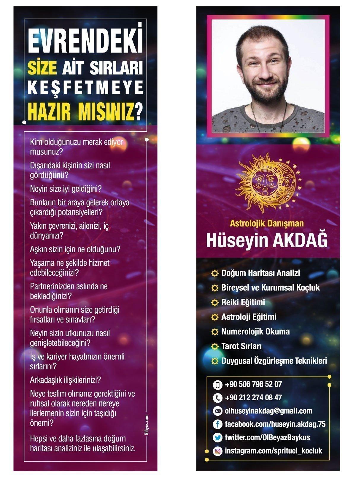 Kitap Ayracı Astrolog Danışman Hüseyin Akdağ