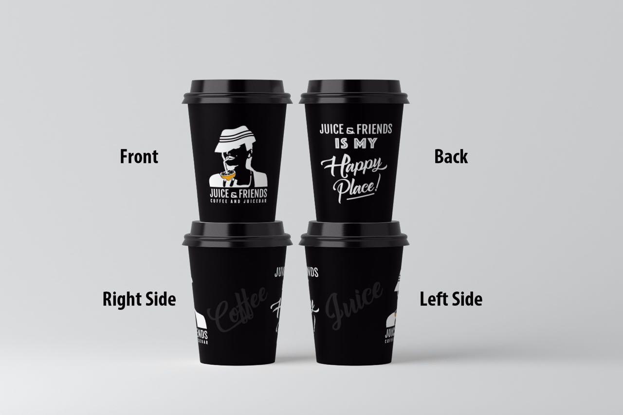 Juice & Friends Kağıt Bardak Tasarımı