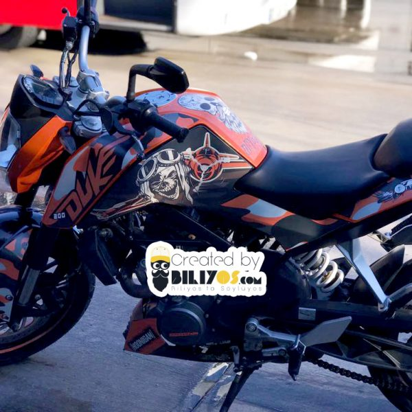 KTM Duke 125 200 250 390 Sticker Takımı
