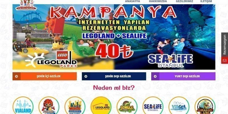 Vialand Funlab Kidz Mondo Legoland Websitesi